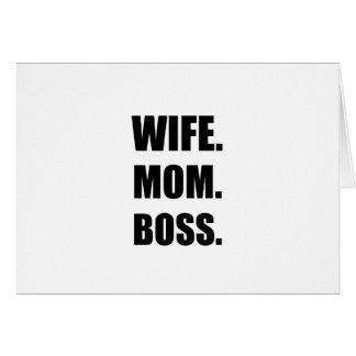 Wife Boss Mom Card