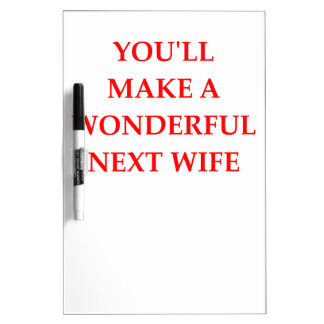 WIFE DRY ERASE BOARD