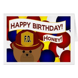 Wife - Happy Birthday Firefighter Hero! Greeting Card
