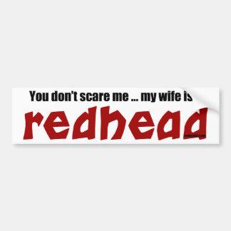 Wife is a Redhead Bumper Sticker