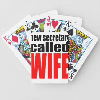 wife marriage joke marrying newlywed reality quote bicycle playing cards