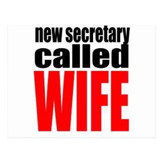 wife marriage joke marrying newlywed reality quote postcard