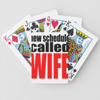 wife marriage joke schedule newlywed reality quote bicycle playing cards