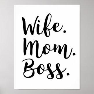 wife mom boss poster