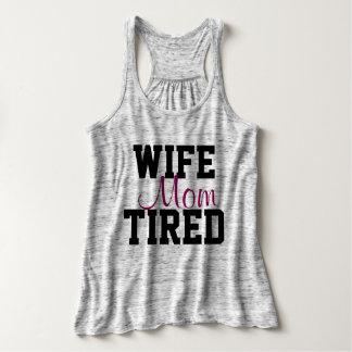 WIFE MOM TIRED TANK TOP