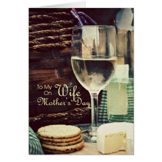 Wife Mother's Day Wine Card