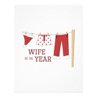 Wife Of Year Letterhead