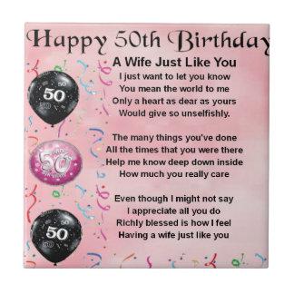 Wife Poem - 50th Birthday Ceramic Tiles