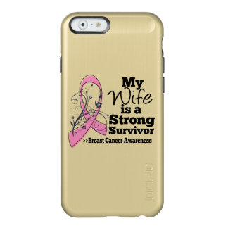 Wife Strong Survivor Breast Cancer Incipio Feather® Shine iPhone 6 Case