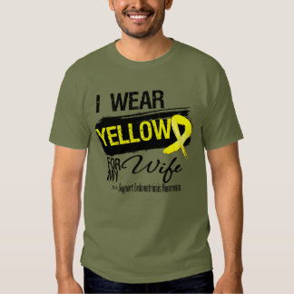 Wife Yellow Ribbon Endometriosis T-shirts