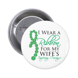 Wife's Inspiring Courage - Liver Cancer Button