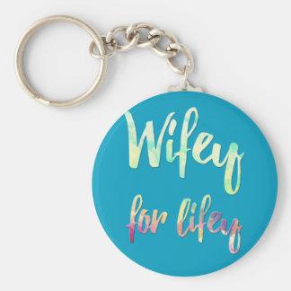 wifey bride keychain