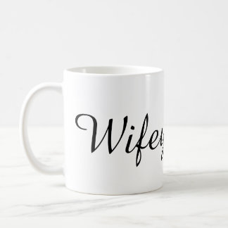 Wifey bride to be bachelorette party shower gift basic white mug