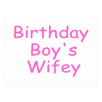 Wifey du garçon d anniversaire cartes postales