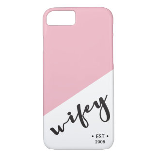 Wifey, Established, Year, Personalized iPhone 8/7 Case