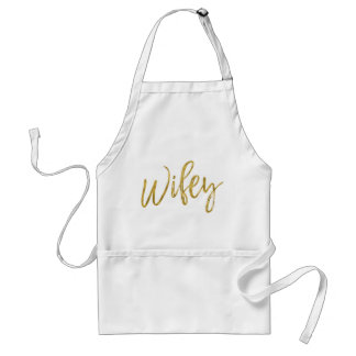 Wifey Faux Gold Foil Apron Wedding Gift