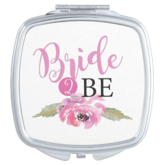 Wifey Gold Floral Bride-To-Be Mrs Wedding Gift Makeup Mirrors