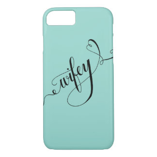 Wifey Hand Written Lettering Calligraphy Heart Case-Mate iPhone Case