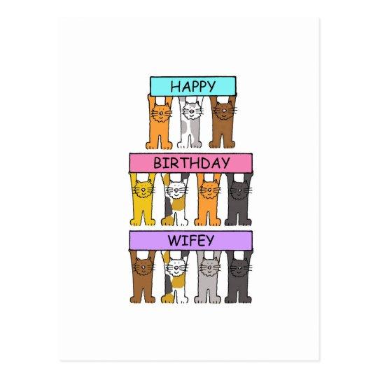 Wifey Happy Birthday Postcard