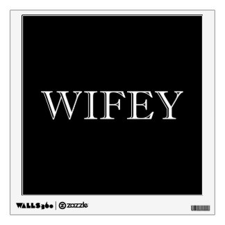 Wifey Married Couple Wall Decal