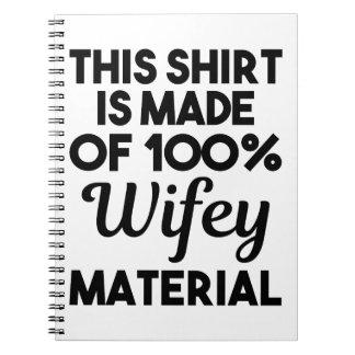 Wifey Material Spiral Notebook