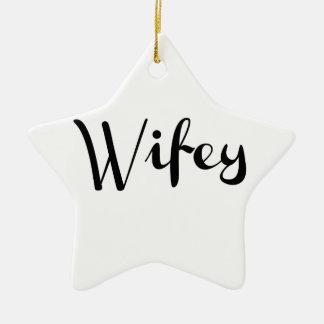 Wifey - Newlywed Funny Christmas Ornaments