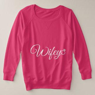 Wifey ring plus size sweatshirt