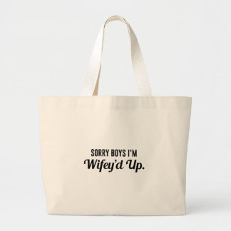 Wifey'd Up Large Tote Bag