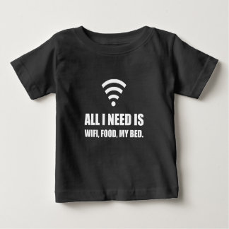 Wifi Food My Bed Baby T-Shirt