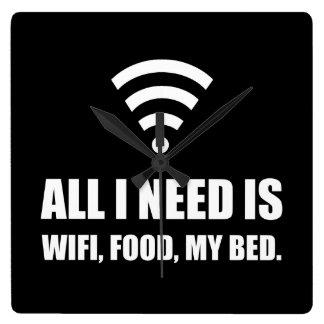Wifi Food My Bed Clock