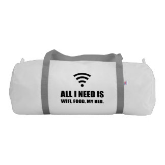 Wifi Food My Bed Gym Bag