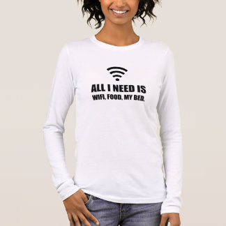 Wifi Food My Bed Long Sleeve T-Shirt