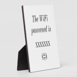 WiFi Password Guest Room Tabletop Plaque