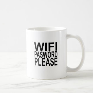 wifi password please FUNNY SHIRT . Coffee Mug