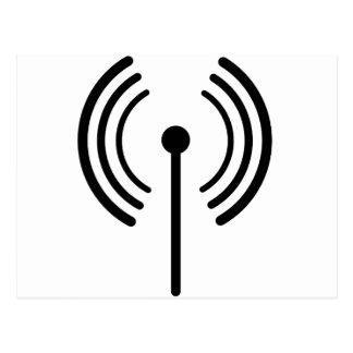 WiFi Signal Design Postcard