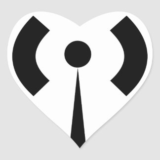 Wifi Signal Heart Sticker