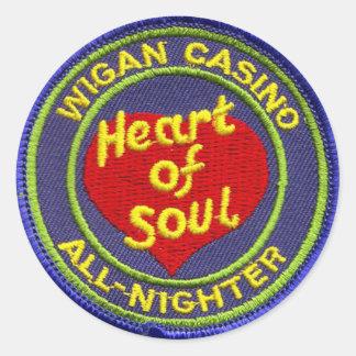 Wigan Casino All-Nighter Round Sticker
