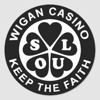 Wigan Casino Keep The Faith Classic Round Sticker