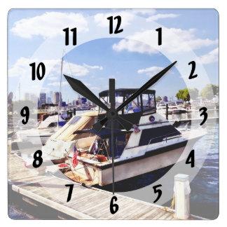 Wiggins Park Marina Square Wall Clock