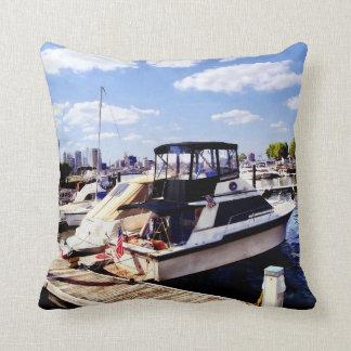 Wiggins Park Marina Throw Pillow
