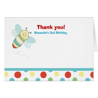 Wiggle Bug Bee Birthday Thank you Card