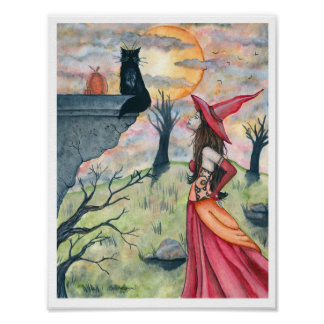 Wiggles and the Witch Poster Print