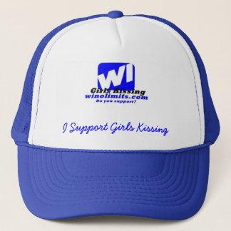 wigknewlogoblue, I Support Girls K... - Customized Trucker Hat