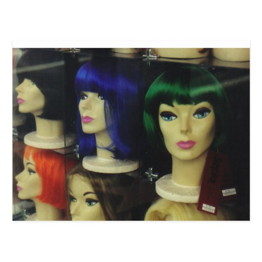 Wigs  in a Los Angeles Store Postcard