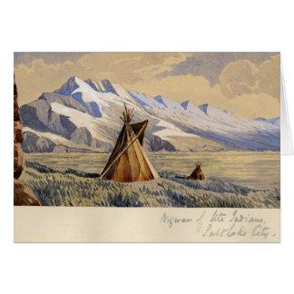 Wigwam of Ute Indians, Salt Lake City Card
