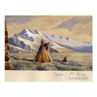 Wigwam of Ute Indians, Salt Lake City Postcard