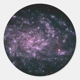 WII Remote Galaxy Skin Classic Round Sticker