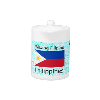 Wikang Filipino Language And Philippines Flag