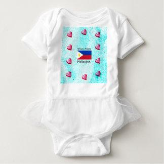 Wikang Filipino Language And Philippines Flag Baby Bodysuit