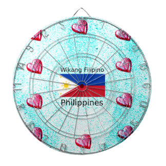 Wikang Filipino Language And Philippines Flag Dartboard